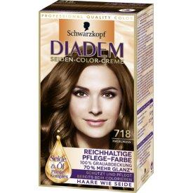 Schwarzkopf Diadem Dauerhafte Haarfarbe Pflege Color Creme Haselnuss 718