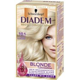 Schwarzkopf Diadem Dauerhafte Haarfarbe Seiden-Color Creme Blond Sensation 10.1 helles Aschblond