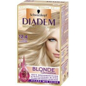 Schwarzkopf Diadem Haarfarbe Seiden-Color Creme Blond Sensation 12.4 helles Roséblond