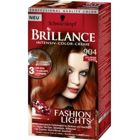 Schwarzkopf Brillance Intensive Color Creme 904 goldenes Kupfer