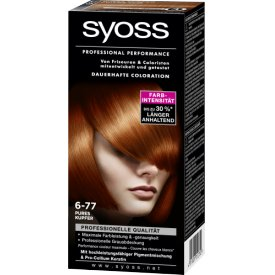 Schwarzkopf Syoss Coloration Colors Sattes Kupfer 6-77