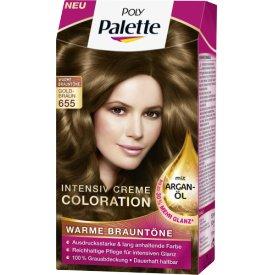 Poly Palette Dauerhafte Haarfarbe Intensiv-Creme-Coloration 655 Gold-Braun