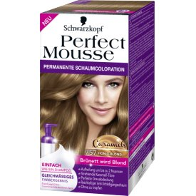Schwarzkopf Perfect Mousse Permanente Schaumcoloration Honig Blond 757
