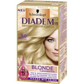 Schwarzkopf Diadem Dauerhafte Haarfarbe Seiden Color Creme Blonde Sensation 9.0