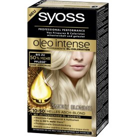 Schwarzkopf Syoss Oleo Intense Coloration 10-50 Helles Asch-Blond Smoky Blondes
