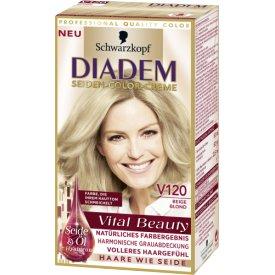 Schwarzkopf Diadem Dauerhafte Haarfarbe Seiden-Color-Creme V120 Beige Blond