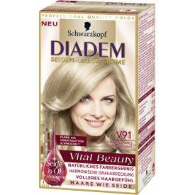 Schwarzkopf Diadem Dauerhafte Haarfarbe  Diadem Seiden-Color-Creme V91 Strahlendes Naturblond