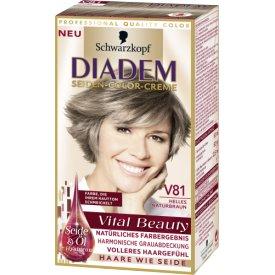 Schwarzkopf Diadem Haarfarbe Seiden-Color-Creme V81 Helles Naturbraun