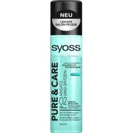 Schwarzkopf Syoss Sprüh-Spülung Pure & Care Ansatz und Spitzen