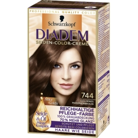 Schwarzkopf Diadem Dauerhafte Haarfarbe Seiden-Color-Creme 744 Goldenes Maronenbraun