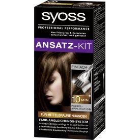Schwarzkopf Syoss Ansatz-Set für mittelbraune Nuancen
