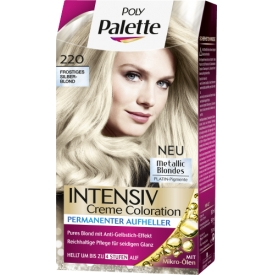 Poly Palette Intensiv Creme Coloration 220 Frostiges Silberblond Metallic Blondes