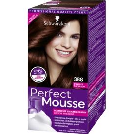Schwarzkopf Perfect Mousse Dauerhafte Haarfarbe Permanente Schaum-Coloration  388 Dunkles Rotbraun Stufe 3