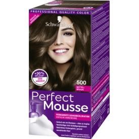 Schwarzkopf Perfect Mousse Haarfarbe Schaum Mittelbraun 500