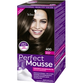 Schwarzkopf Perfect Mousse Dauerhafte Haarfarbe Schaumcoloration 400 Dunkelbraun