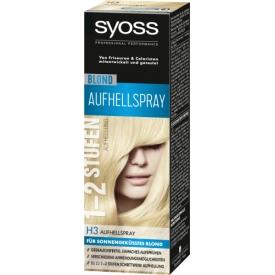 Schwarzkopf Syoss Blond 1-2 Stufen Aufhellung H3 Aufhellspray