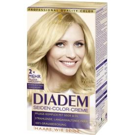 Schwarzkopf Diadem Dauerhafte Haarfarbe Seiden Color Creme Lichtblond 705