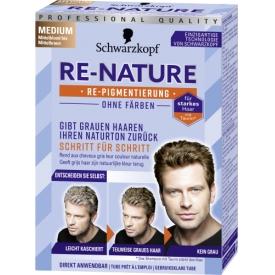 Re-nature Dauerhafte Haarfarbe Repigmentierungscreme Re-Nature Medium für Männer