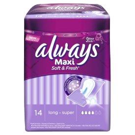 Always  Binden Maxi Soft& Fresh Long