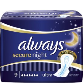 Always Damenbinden secure night ultra