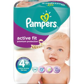 Pampers  Active Fit Gr. 4  Maxi Plus 9-20 kg