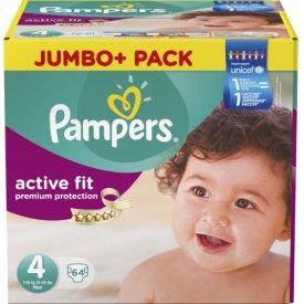 Pampers  Active Fit Größe 4 Maxi 7-18kg Jumbo Plus Pack