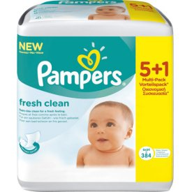 Pampers Feuchttücher fresh clean  Vorteilspack