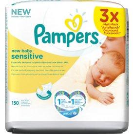 Pampers  Feuchttücher Sensitive New Baby 3 x 50 Stück