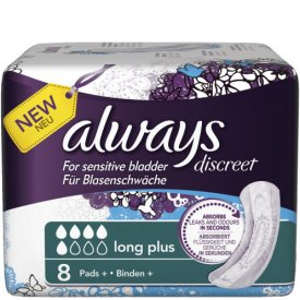 Always Inkontinenz Einlagen Discreet Long Plus