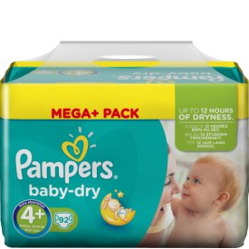 Pampers Baby-Dry Windeln 4+ Maxi Plus 9-20kg