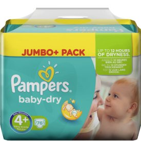 Pampers  Baby-Dry Windeln 4  Maxi Plus 9-20kg