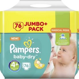 Pampers Baby Dry Gr.4+ maxi plus 9-18kg Jumbo plus