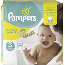 Pampers Babywindeln Premium Protection Größe 3 (5 - 9 kg) Midi