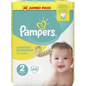 Pampers Premium protection New Baby Größe 2 Mini 3-6 kg Jumbo Pack