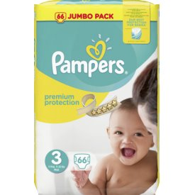 Pampers Premium protection Größe 3 Midi 5-9 kg Jumbo