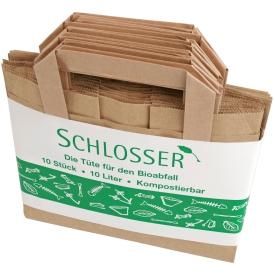 Schlosser Bio-Kompostbeutel mit Griff 10 Stück