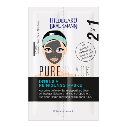 Hildegard Braukmann  Display Pure Black Intensiv Reinigungs Maske Sachets