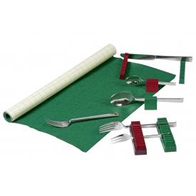 Buchholz Besteck-Filz 70x45cm grün