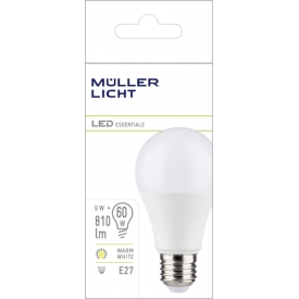 Müller Licht LED Birne E27 9W 220-240V 2700K 806lm