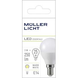 Müller Licht LED Tropfen E14 3W 220-240V 2700K 250lm