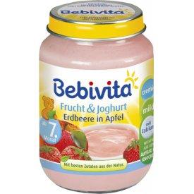 Bebivita Frucht  & Joghurt Erdbeere in Apfel  Früchte Zubereitung mit Joghurt ab dem 7. Monat