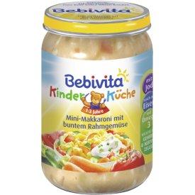 Bebivita Kinderküche Mini-Makkaroni mit buntem Rahmgemüse