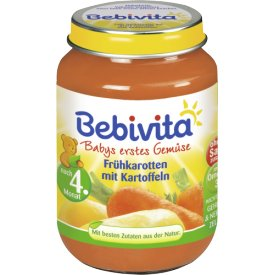 Bebivita Babys erstes Gemüse Frühkarotten mit Kartoffeln Gemüsezubereitung nach dem 4.