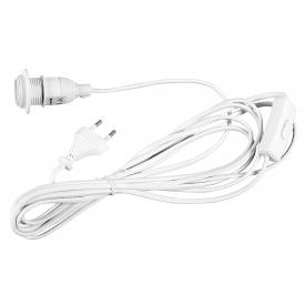 Boltze Stromkabel mit Lampenfassung E14 2,5m weiß