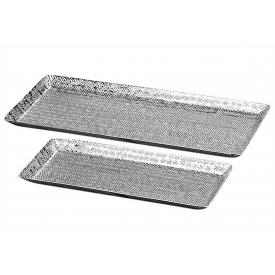Boltze Deko-Tablett Detroit Aluminium in verschiedenen Größen 2er Satz