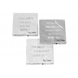 Boltze Lunch-Serviette Gäste sortiert 33x33cm 20er Pack