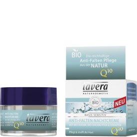 Lavera Nachtcreme Basis Sensitiv Anti-Falten Q10