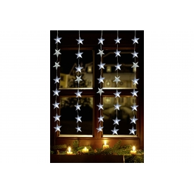F-h-s LED Tür Vorhang 60LED 1x1,80m 5x12 Stränge außen transparent