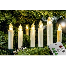 F-H-S LED Baumkerze 10 Kerzen kabellos mit FB incl. Batterien