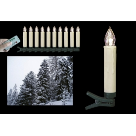 F-h-s LED-Baumkerze kabellos außen warm-weiß incl. AA Batterien 9cm Ø1,5cm warmwei�